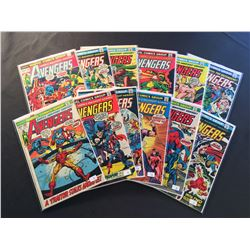 "AVENGERS #106-113 &115-118 (1972-73) EARLY BRONZE AGE RU7N OF ""EARTH'S MIGHTIEST HEROS!"" INCLUDES"