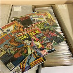 MARVEL & DC MIXED TITLES LONG BOX (MID-LATE 1970'S-EARLY 80'S) MID TO LATE BRONZE AGE MIXTURE - MID