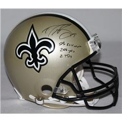 479df1407 Drew Brees Signed Saints Full-Size Authentic Pro-Line Helmet Inscribed SB  XLIV MVP