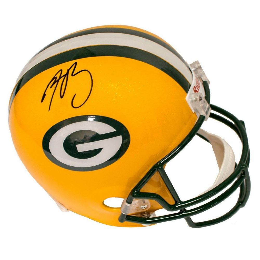 Image 1   Aaron Rodgers Signed Packers Full Size Helmet (Steiner COA) bccd8835f