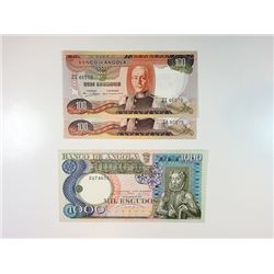 "Banco de Angola, A Trio of ""Z"" Replacement Notes, 1972 and 1973."