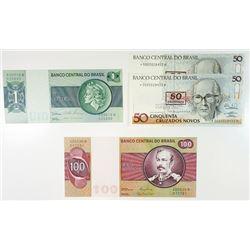 Banco Central Do Brasil, Uncirculated 1970s and 1980s replacement Notes.