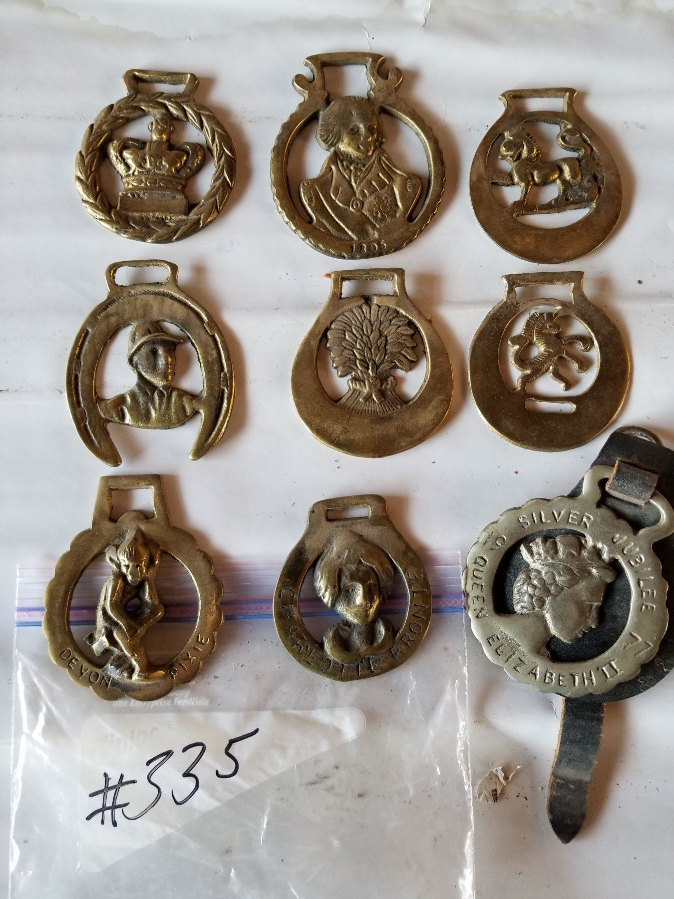 9 Horse Harness Decorations-Old