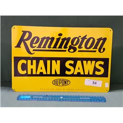 VINTAGE REMINGTON CHAINSAWS METAL SIGN