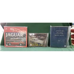 THREE JAGUAR HARD COVER BOOKS