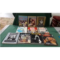 TEN VINTAGE MOVIE BOOKS