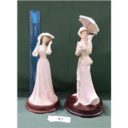 TWO LADY FIGURINES