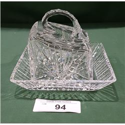 PINWHEEL CRYSTAL COVERED BUTTER DISH