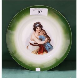VINTAGE DECORATIVE PORCELAIN PLATE