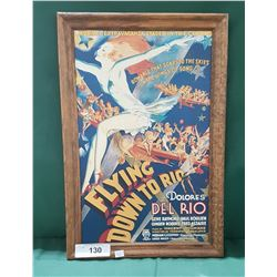 """FLYING DOWN TO RIO"" FRAMED MOVIE POSTER"