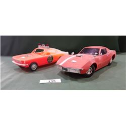 VINTAGE MUSTANG & CORVETTE TOY CARS