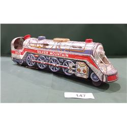 VINTAGE BATTERY POWERED TIN LOCOMOTIVE TOY