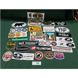 26 YELLOWSTONE NATIONAL PARK STICKERS