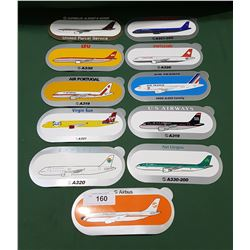ELEVEN AIRLINE COMPANY STICKERS