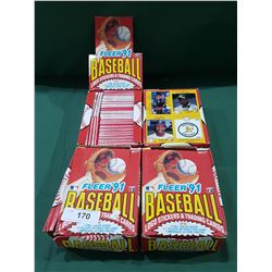 FOUR CASES FLEER BASEBALL CARDS