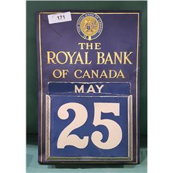 VINTAGE ROYAL BANK CALENDAR
