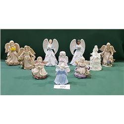 LOT OF 10 ANGEL FIGURINES