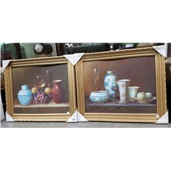 TWO ORIGINAL GILT FRAMED PAINTINGS