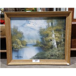 GILT FRAMED OIL ON CANVAS SIGNED