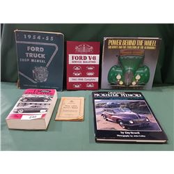 SIX VINTAGE CAR BOOKS
