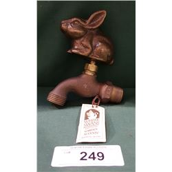 BRONZE FIGURAL RABBIT SPIGOT HANDLE