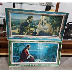 TWO VINTAGE FRAMED RELIGIOUS PRINTS