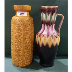TWO WEST GERMANY VASES