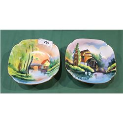 TWO HAND PAINTED PORCELAIN BOWLS SIGNED