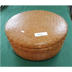 LIDDED WICKER BASKET