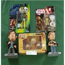 BOX LOT STAR WARS & WALKING DEAD COLLECTIBLES