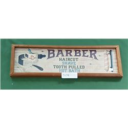 WOODEN BARBER SIGN