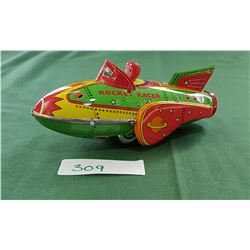 TIN ROCKET RACER TOY