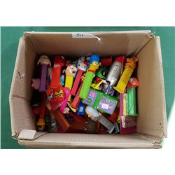 BOX OF COLLECTIBLE PEZ DISPENSERS