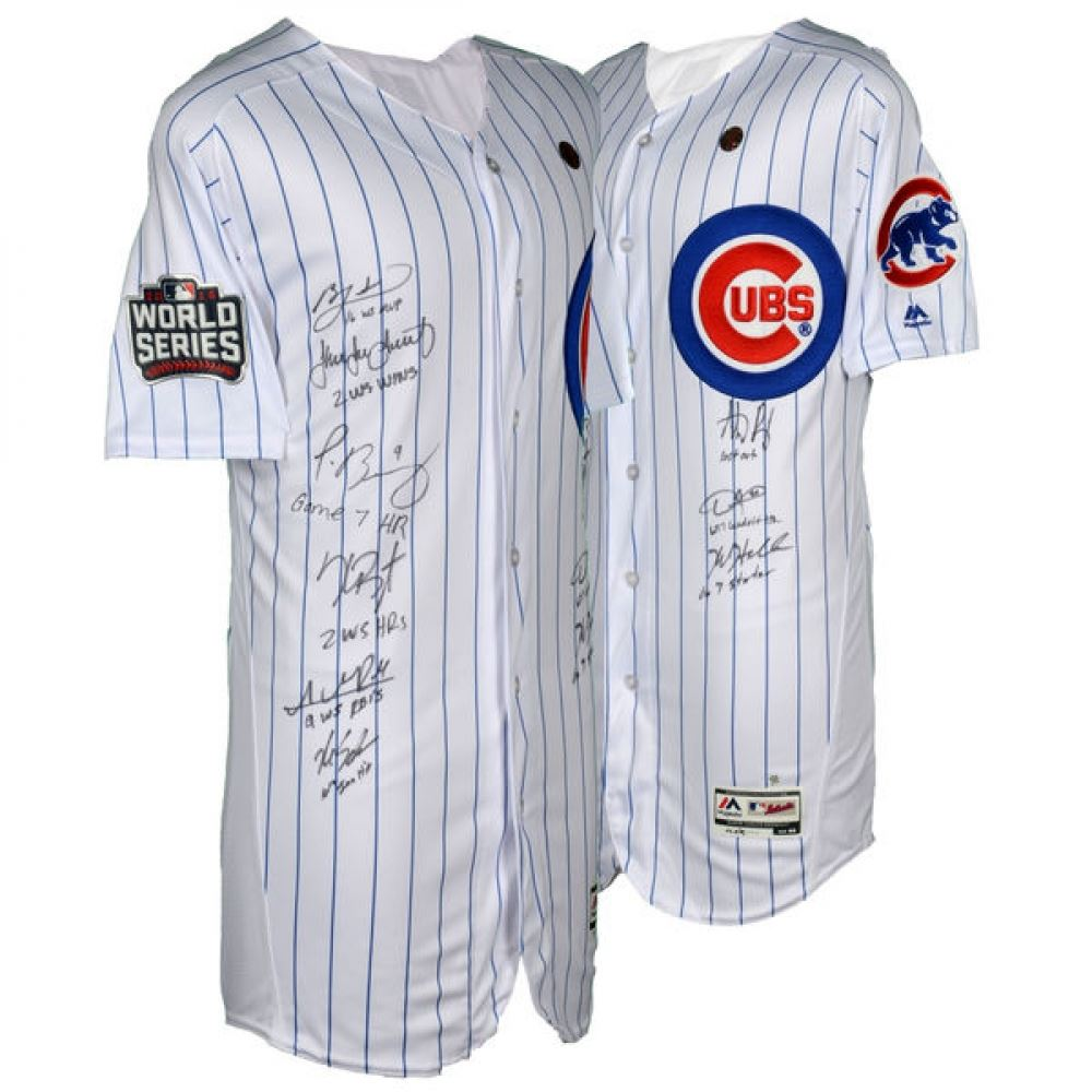2016 Cubs World Series Champions Jersey Team-Signed by (9) with Kris  Bryant 979c4e659fd9