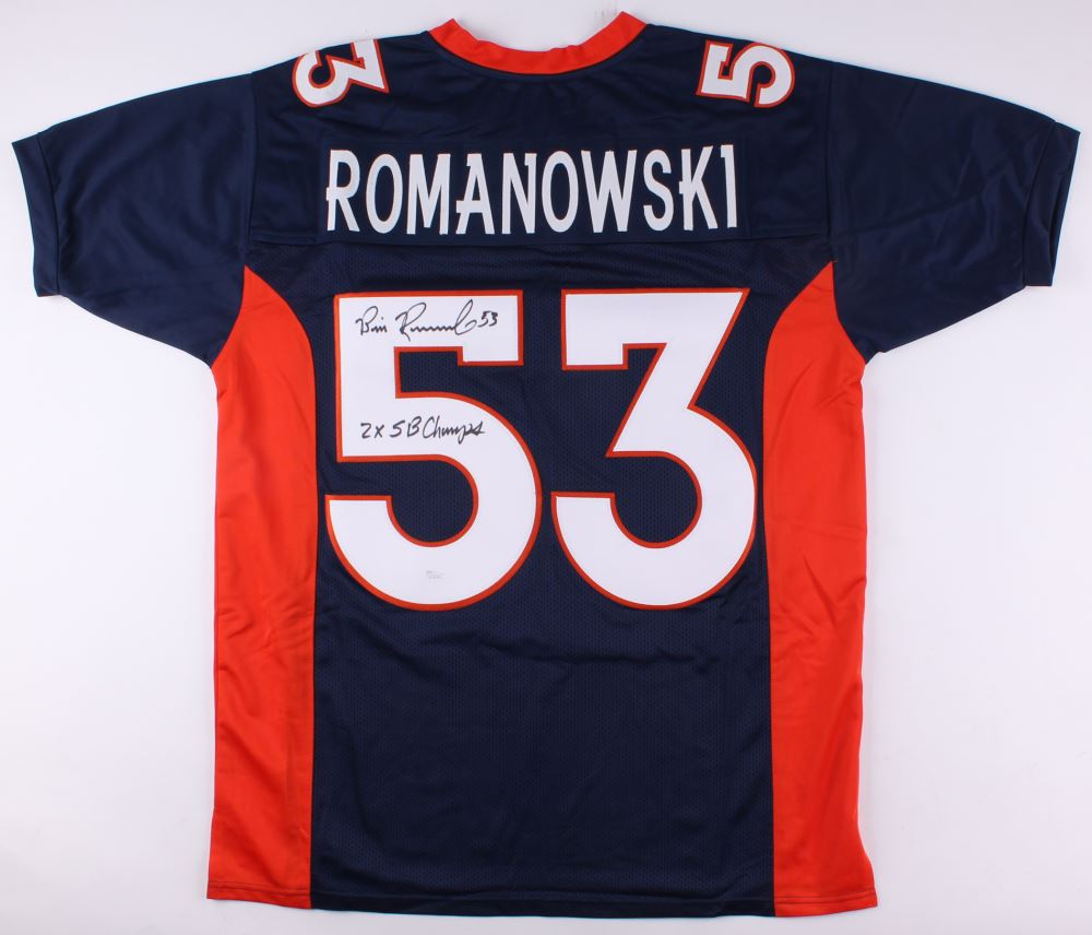Image 1   Bill Romanowski Signed Broncos Jersey Inscribed
