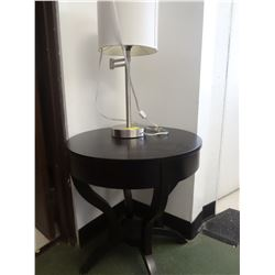 Round table with lamp show home decor