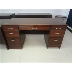 Executive Office Desk Wood Finish