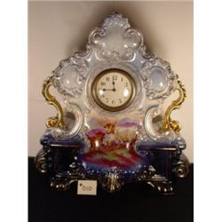 MANTEL CLOCK Rococo Shell Scroll design