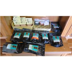 Grandma Mui's Li Hing Mui Powder (10 packs), 3 Bags of Hawaiian Salt, Tea Chest Flavored Ice Teas