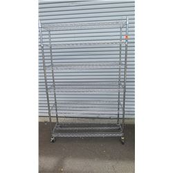 "NSF Rolling Stainless Steel Wire Shelving Unit 48"" x 18"" x 75""H"