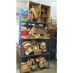 Large Amount of Various Sized/Shaped Baskets
