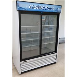 "Turbo Air TGM-48R 56"" Two-Section Glass Door Refrigerator  Merchandiser"