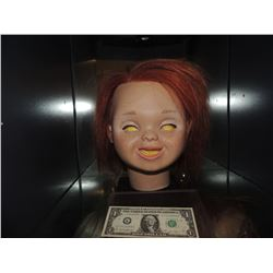 Z-CURSE OF CHUCKY SCREEN USED HERO HEAD FROM ANIMATRONIC PUPPET UNSCARRED VERSION