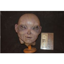 STAR TREK ALIEN SCREEN USED FULL HEAD MASK SILICONE