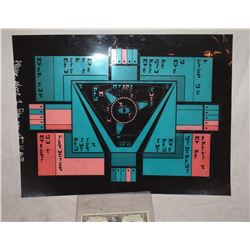 STAR TREK KLINGON ROMULAN VULCAN SCREEN USED BRIDGE CONTROL PANEL 4