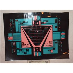 STAR TREK KLINGON ROMULAN VULCAN SCREEN USED BRIDGE CONTROL PANEL 5