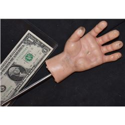 CURSE OF CHUCKY SCREEN USED HERO INSERT HAND ON ROD