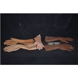 HAND ARM GLOVE LOT OF 5 SILICONE LATEX & FOAM