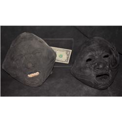ZZ-CLEARANCE ALIEN ZOMBIE MASK LOT OF 2