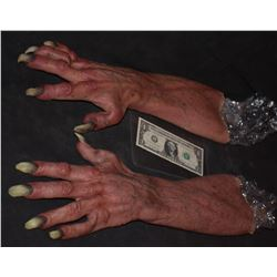 GRIMM ALIEN MONSTER OGRE CREATURE DEMON SILICON GLOVES WITH CLAWS
